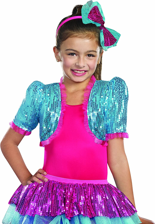 New Dreamgirl 9601 Hot Pink Girls Sequin Mesh Bolero Shrug