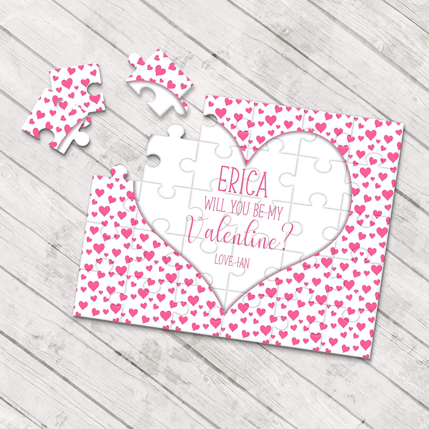 Gifts For Her P0096 Be My Valentine Puzzle Valentines Day Gift Ask Girlfriend Boyfriend