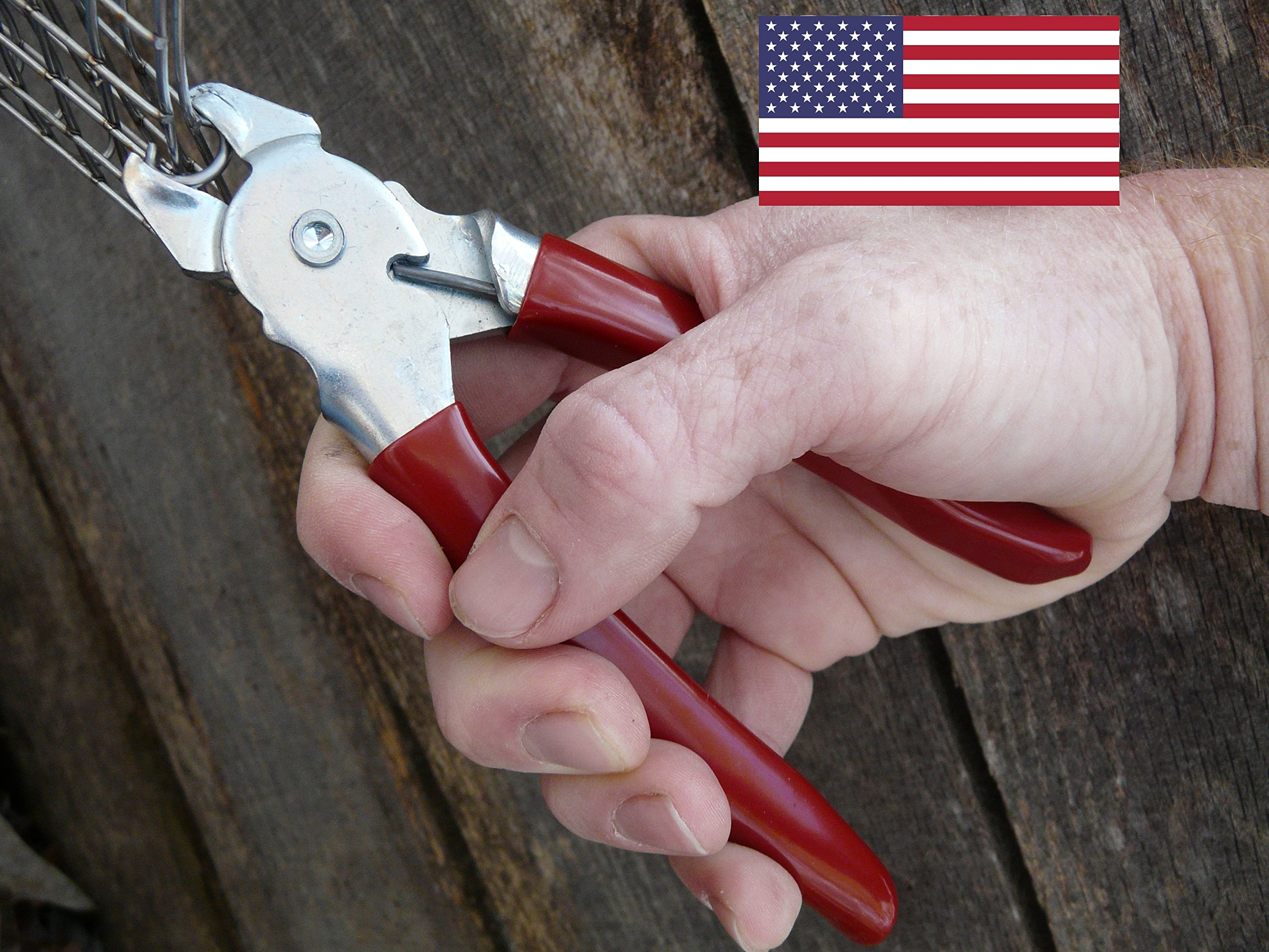 Professional quality Hog ring pliers USA MADE by Eden Farms