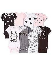 c0f577c1 Gerber Baby Girls' 8-Pack Short-Sleeve Onesies Bodysuit