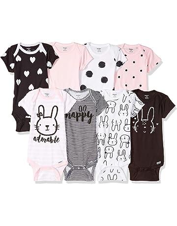 1f0e5d0b03fd Gerber Baby Girls' 8-Pack Short-Sleeve Onesies Bodysuit