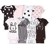 GERBER Baby Girls' 8-Pack Short-Sleeve Onesies...