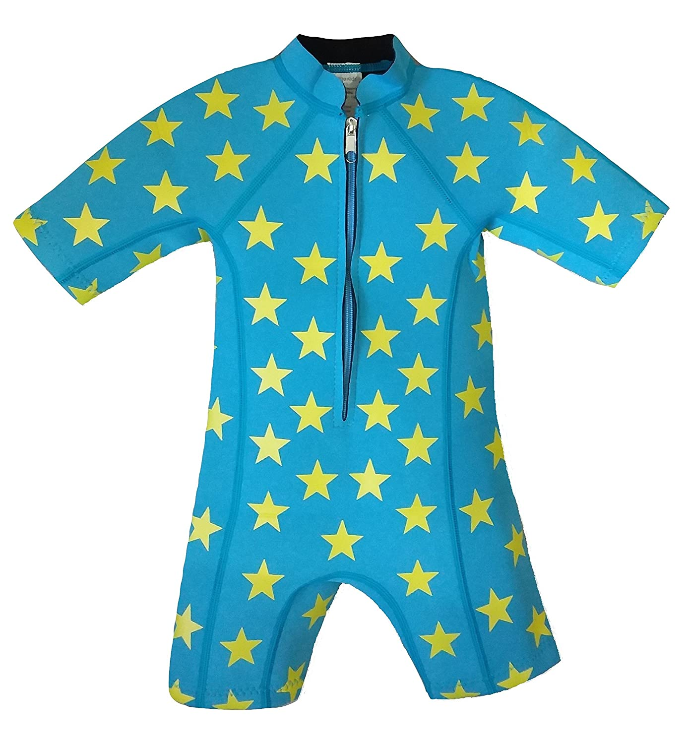 Baby children boy neoprene wetsuit swim suit newborn to 5 years kids toddler blue IndigoKids