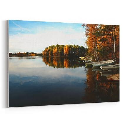 Amazon Com Westlake Art Lake Wallpaper 24x36 Canvas Print Wall