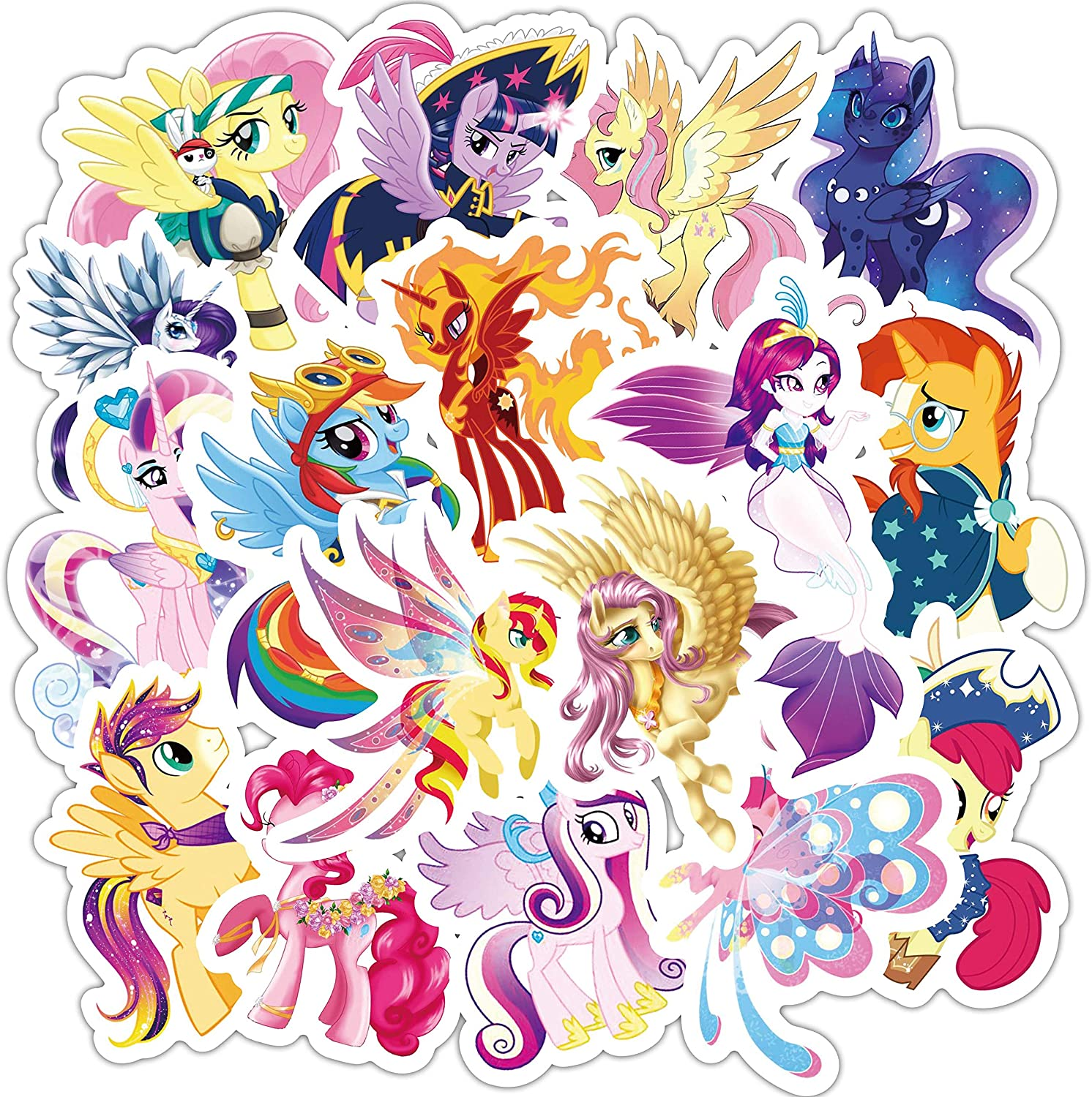 My Little Pony Stickers for Kids,62pcs Magic Cartoon Unicorn Stickers for Girls,Graffiti Waterproof Decals for Hydro flasks Water Bottles Bikes Luggage Skateboard Bumper (Little Pony)
