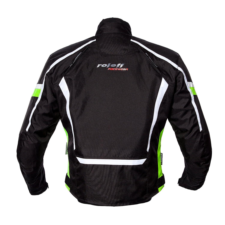 Roleff Racewear Ancona Chaqueta de Motocicleta XXXL Amarillo Ne/ón