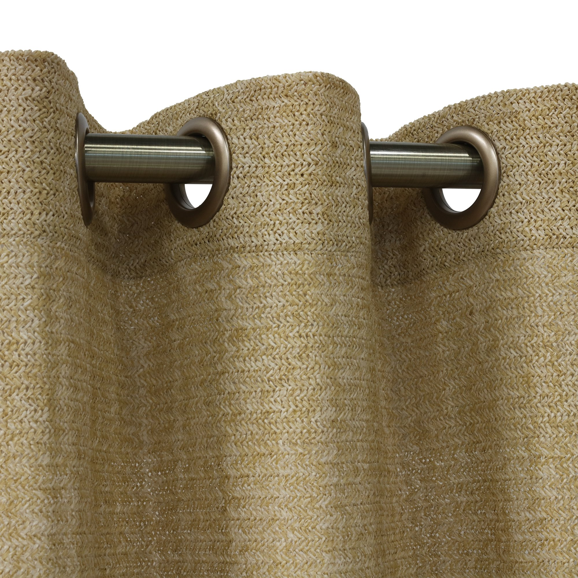 Raffia Outdoor Curtain with Grommets (50'' wide by 108'' long)