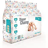 DIAPER CHAMP Baby's Chlorine & Paraben Less Diapers (Medium Size, 6 to 11kg) - 40 Count