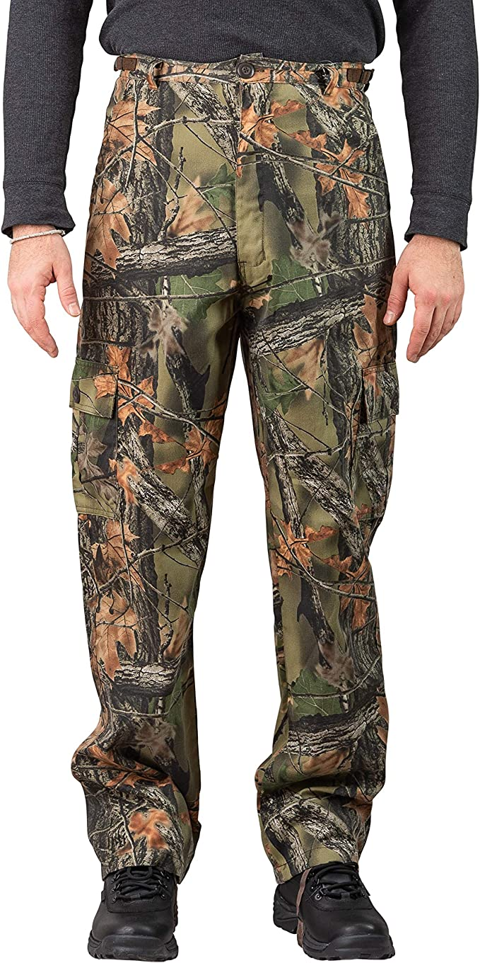 Trail Crest Men's Camo 6 Pocket Cargo Hunting /Hiking Pants Trousers