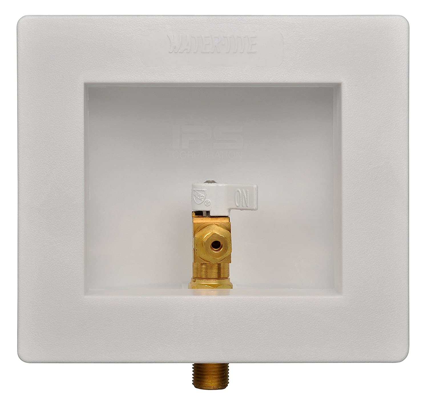 1//2 Viega PF Connection Water-Tite 87952 Plastic Lead-free Ice Maker Outlet Box with Brass Quarter-turn Valve Installed White 1//2 Viega PF Connection IPS Corporation
