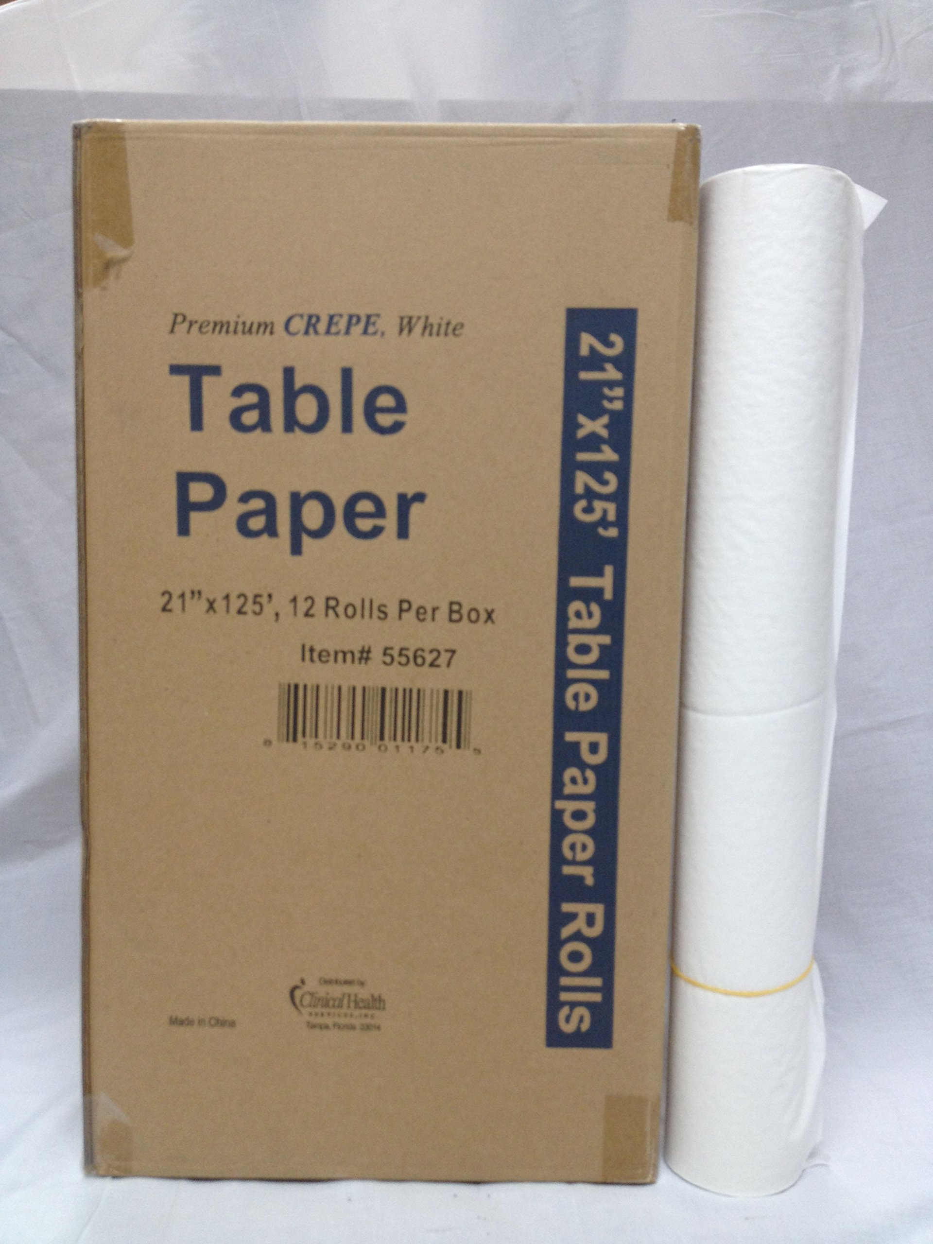 21''x125' Crêpe Exam Tablepaper Rolls, 12 per case by Clinical Health Services, Inc. (Image #1)