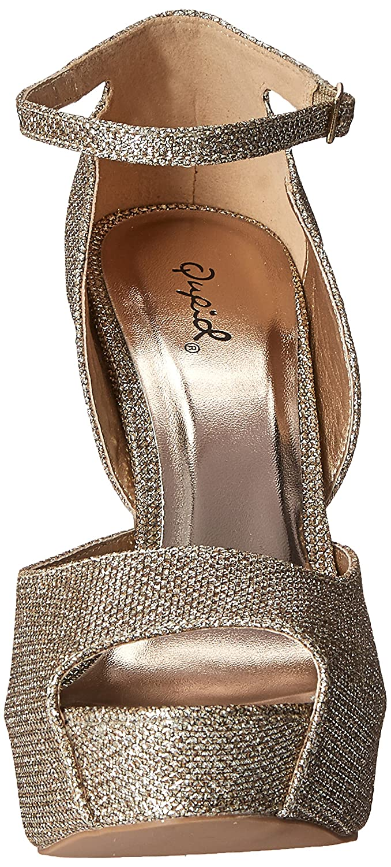 Qupid Womens GAZE-442 Platform dress Sandal