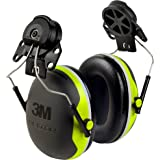 3M Peltor XSeries CapMount Earmuffs, NRR 25 dB, One Size Fits Most, Black