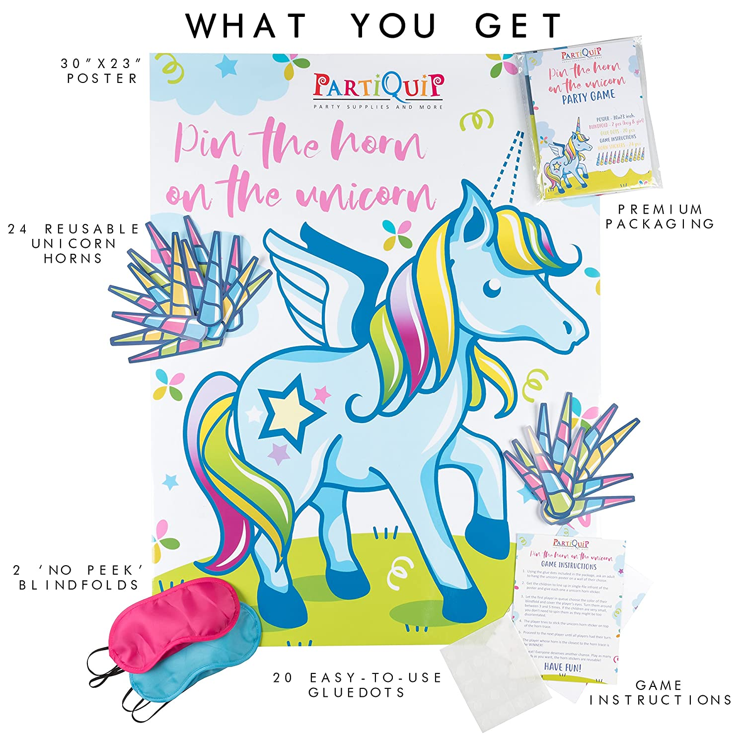 Amazon Partiquip Pin The Horn The Unicorn Birthday Party