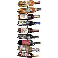 Southern Homewares Soporte de Pared para Botella de Vino, Estante de Almacenamiento, con Capacidad para hasta 9 Botellas