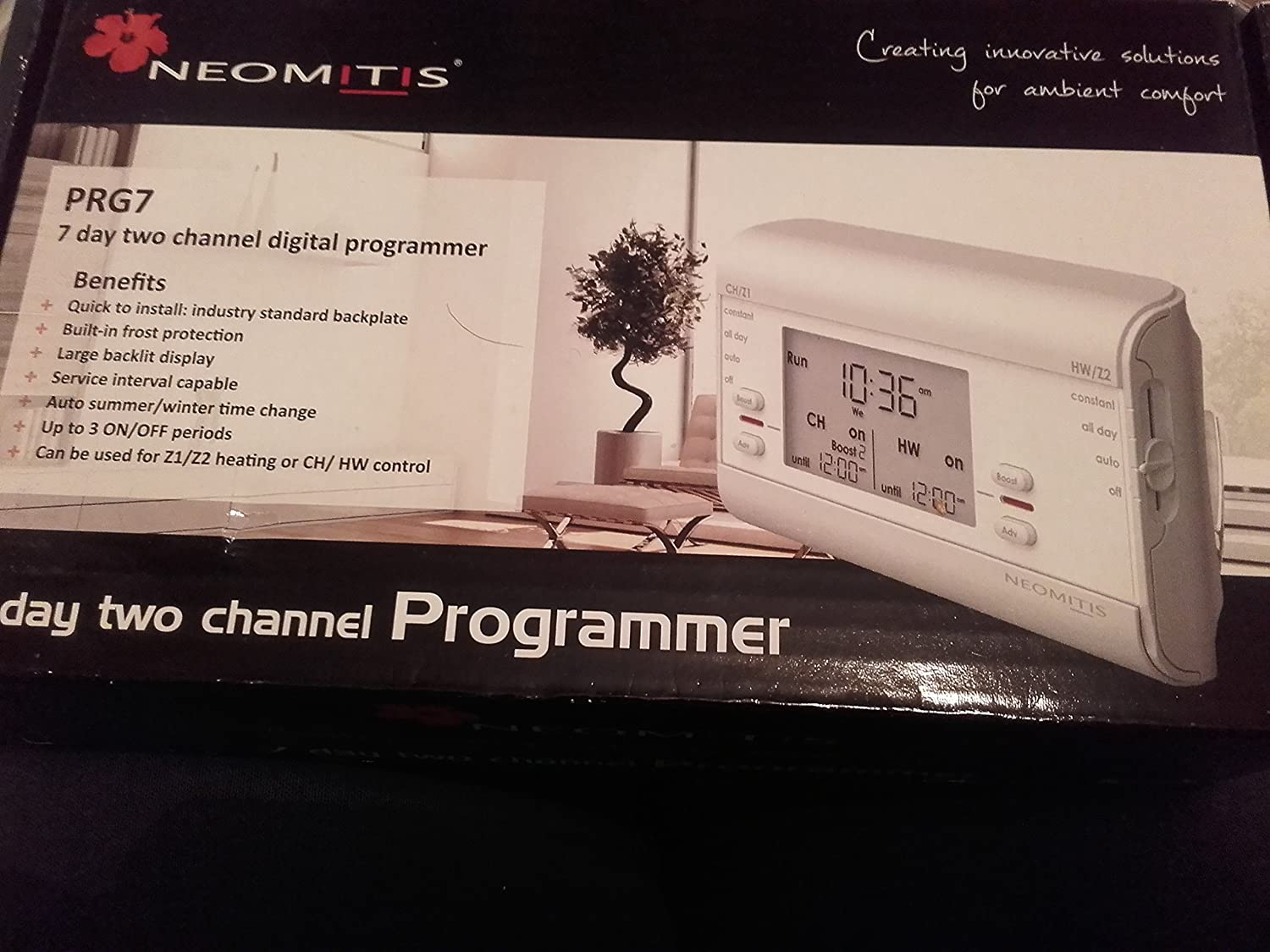 PRG7 Two Channel Twin Heating /& Hot Water Neomitis Wired 7 Day Programmer