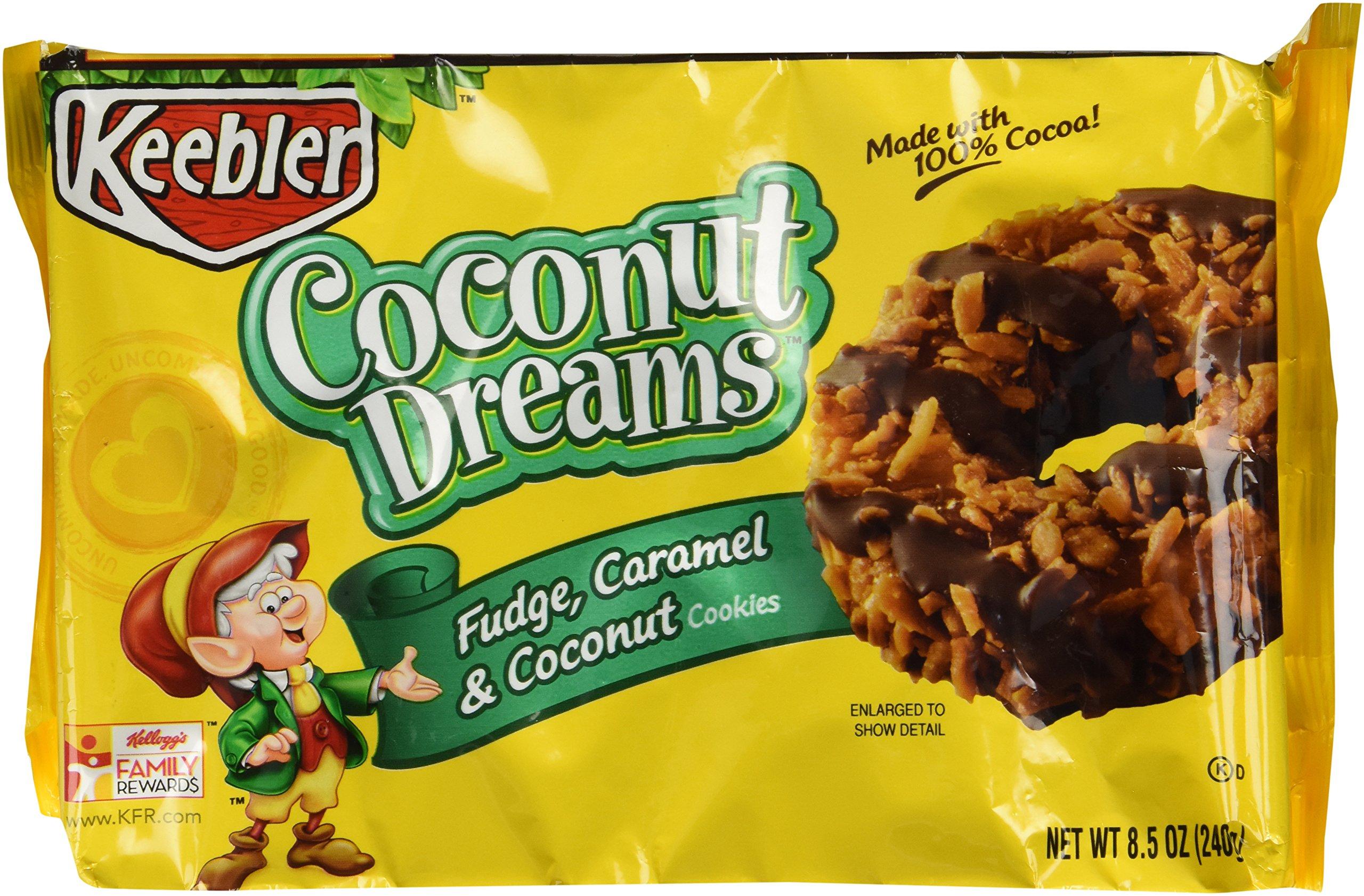 Keebler Fudge Shoppe Cookies, Coconut Dreams, 8.5 Ounce Package (Pack of 4)