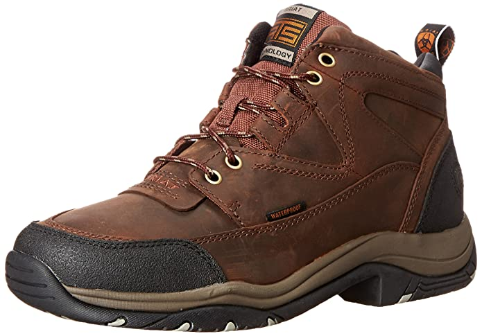 best lightweight hiking shoes Ariat Men's Terrain H2O Hiking Boot Copper