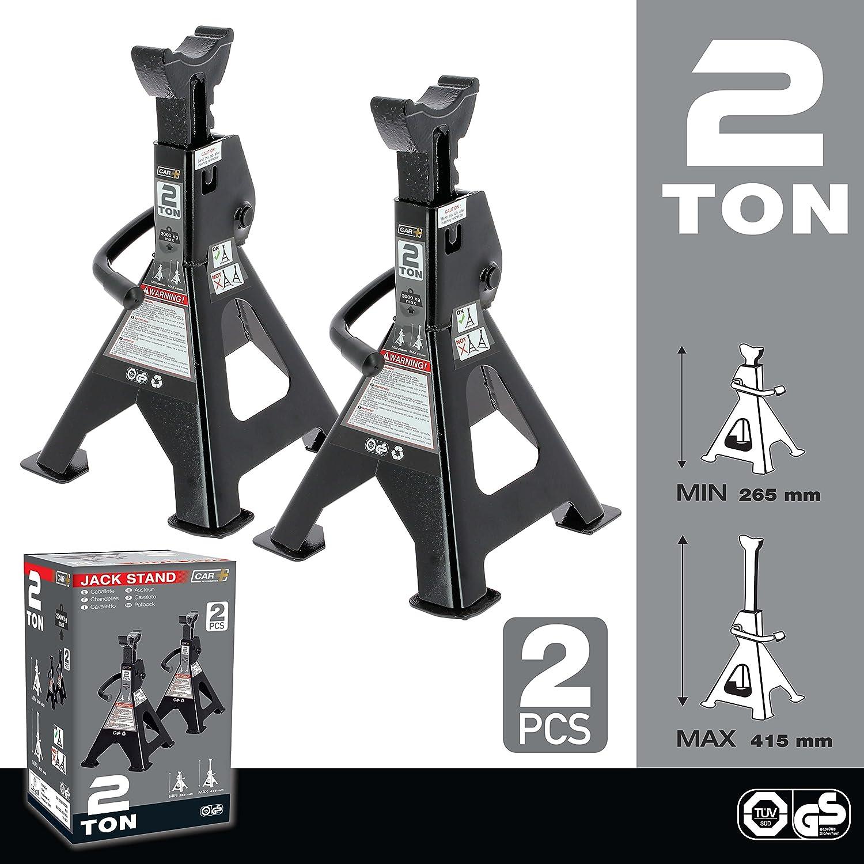 Juego de dos gatos estabilizadores de acero de 2 toneladas para automóviles: Amazon.es: Coche y moto