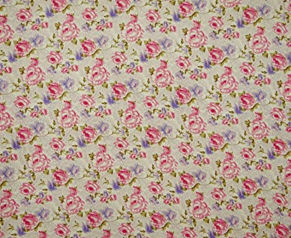 Amazon.com: Knitwit Dressmaking Floral Pattern 43 Inches Wide Rayon ...