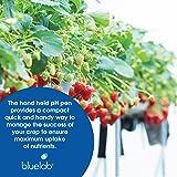 Bluelab PENPH pH Pen Fully Waterproof Pocket Tester for Plant Germination, 0.0-14.0 pH Range Meter and Testing Solution