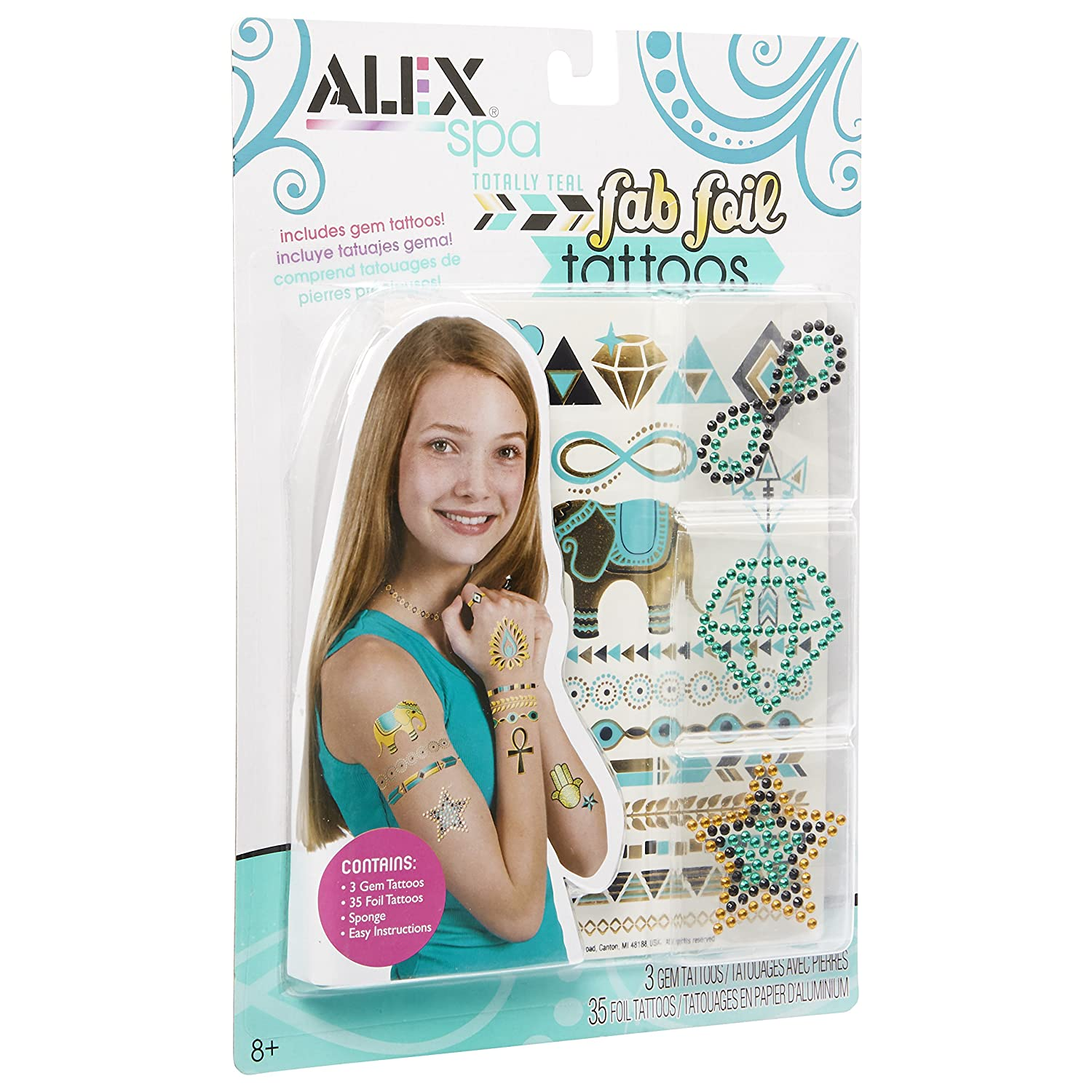 ALEX Spa Fab Foil Tattoos Teal