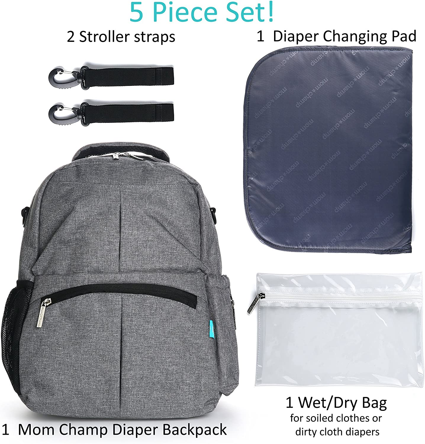 Baby Protable Nappy Washable Nappy Wet Dry Cloth Zipper Waterproof Diaper Bag WZ