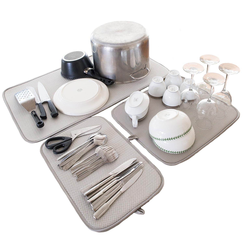 amazon com dish drying mats home u0026 kitchen