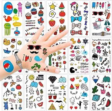 Konsait Tatuaje temporale para niños (15 Hojas), 250+ Dibujos ...