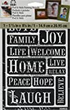 FolkArt Peel and Stick Painting Stencil, 30465 Happy Words