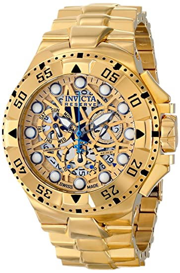 Invicta Mens 15980 Excursion Analog Display Swiss Quartz Gold Watch