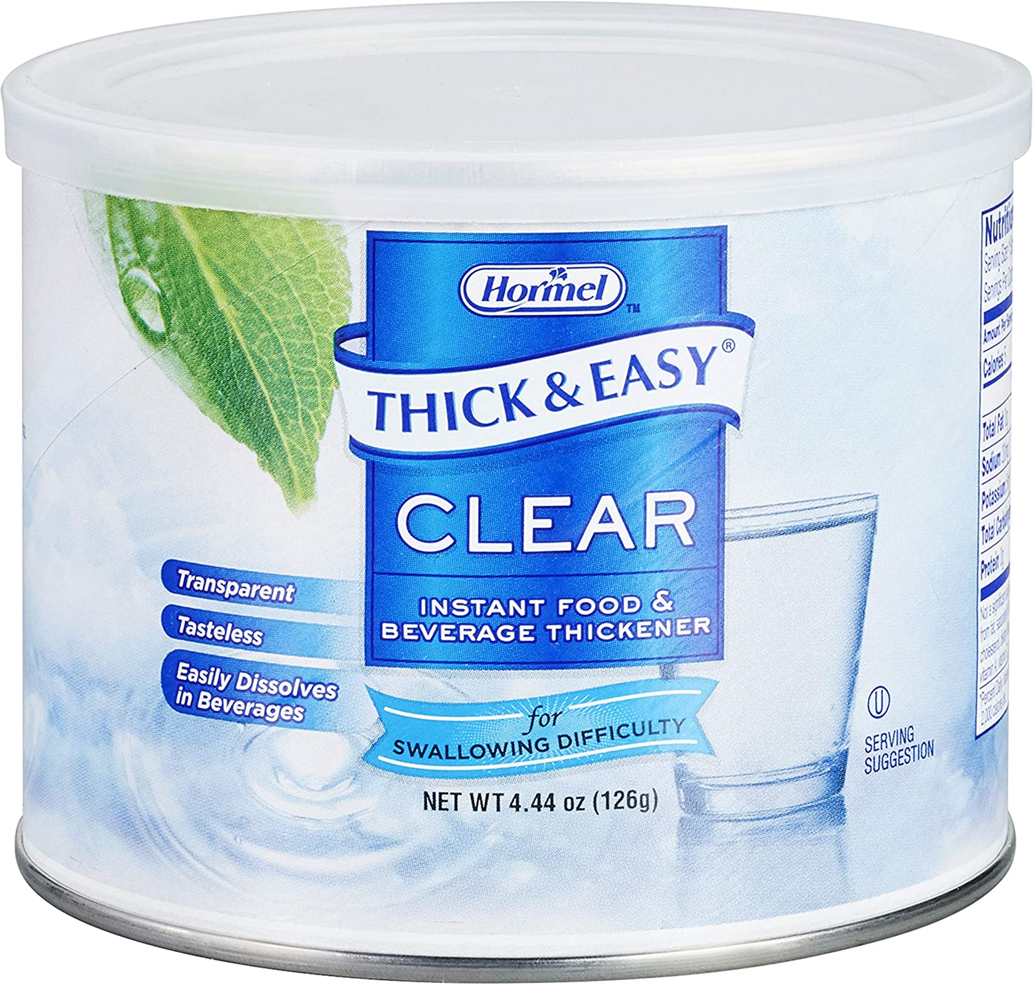 Thick & Easy Food and Beverage Thickener 4.4 oz. Canister Unflavored Powder, 25544 - Sold by: Pack of One