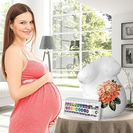 Kit Completo para Impresión 3D de Vientre de Embarazada - Huella de Abdomen Embarazo - Accesorio de Escultura, Modelado para Mamá - Articulo de Fundición ...