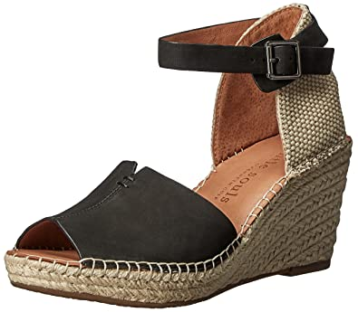 Kenneth Cole Gentle Souls Charli Nubuck Leather Ankle Strap Platform Wedge Sandals h5JdQLl