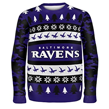 1015cecfa4e Baltimore Ravens One Too Many Ugly Sweater Extra Large