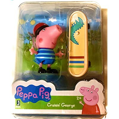 Peppa Pig Crusin George Character Figurine and Skateboard Accessory: Toys & Games