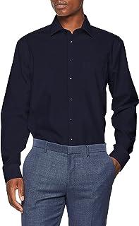 seidensticker herren business hemd modern fit \u2013 b�gelfreies hemd mit  seidensticker herren businesshemd modern langarm mit kent kragen b�gelfrei uni