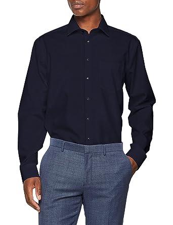 Seidensticker Herren Businesshemd Modern Langarm mit Kent-Kragen Bügelfrei  Uni  Amazon.de  Bekleidung c773e31a75