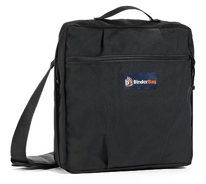 4ab8c3e759f4 BinderBag Messenger Zippered 3-Ring Binder Bag (Black)