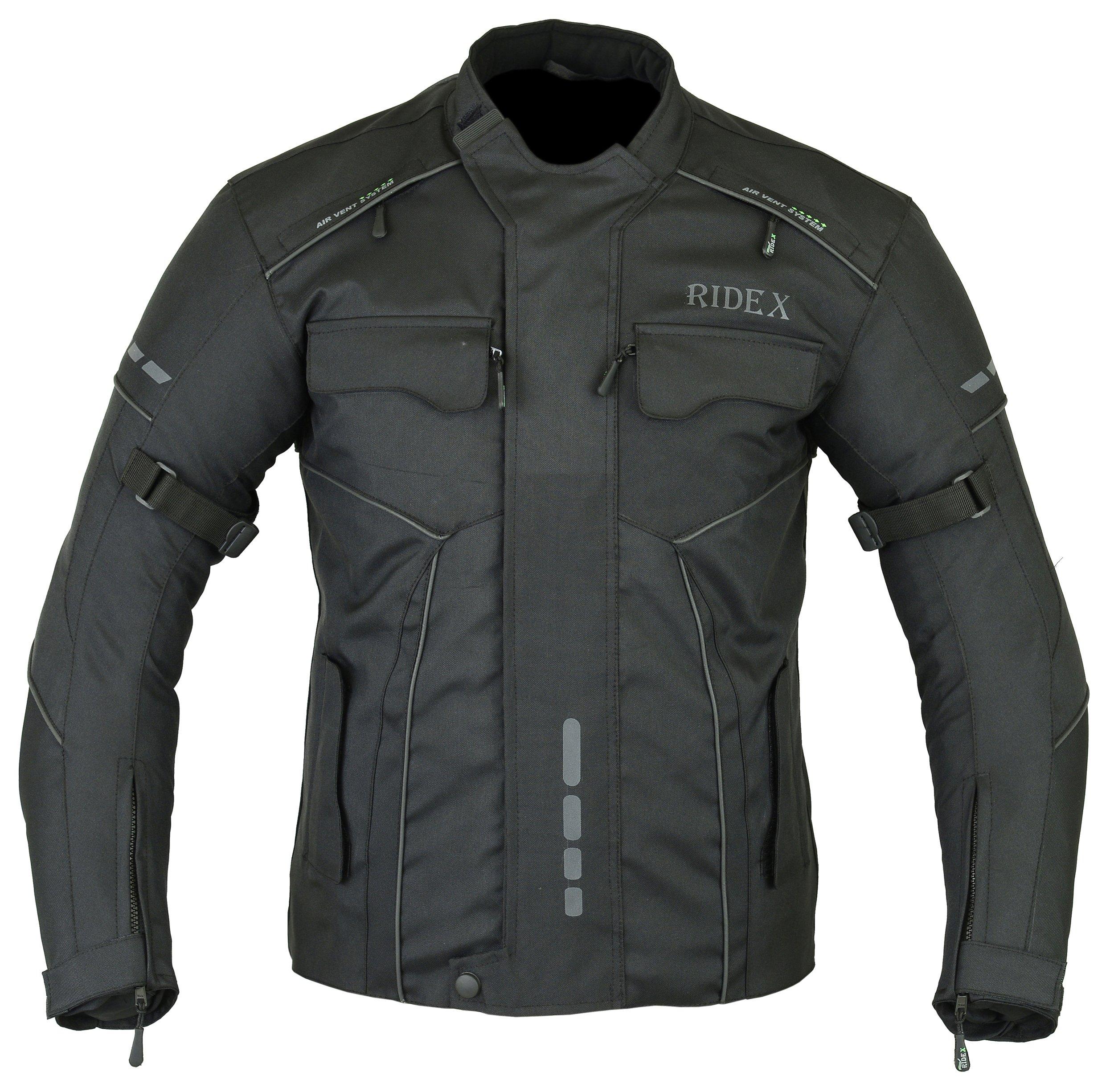 bdf07ed767803 RIDEX para Hombre CJ3 Chaqueta Impermeable y Resistente al Viento para Moto  Motocicletas Agua para
