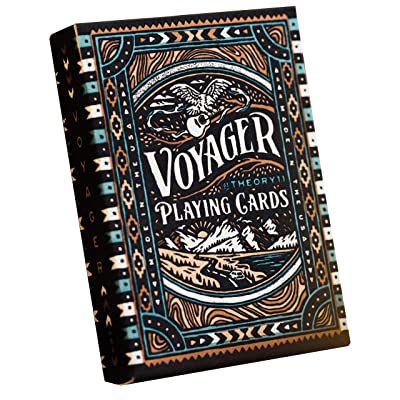 theory11 Voyager Playing Cards, Light Brown/Black, (Model: CARDSVOYAGER): Sports & Outdoors