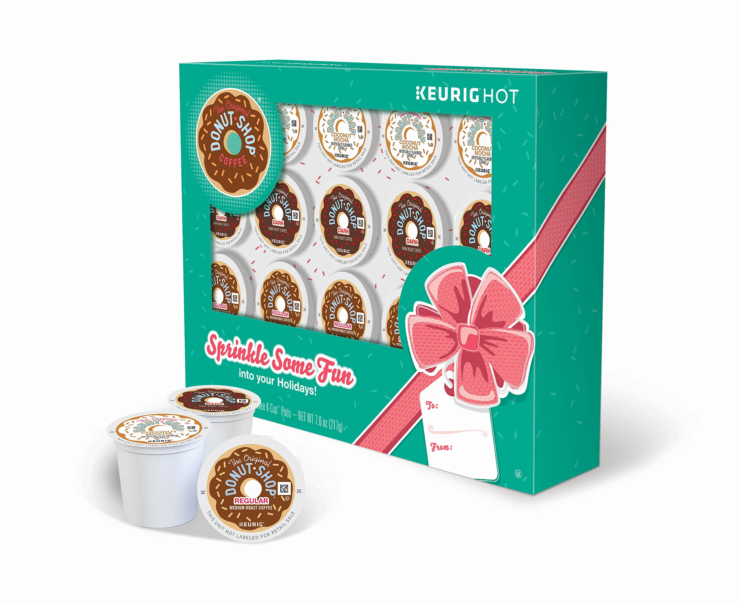 The Original Donut Shop Keurig Single-Serve K-Cup Pod Holiday Coffee Gift Box (Pack of 12)