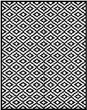 Green Decore Nirvana per interni ed esterni/Leggero/Reversible oekoteppich, Plastica, nero/bianco, 240 x 300