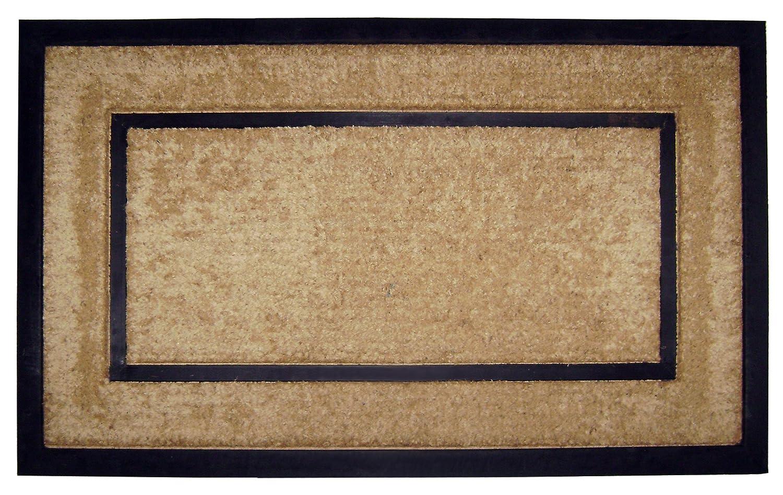 """18098 Coir/Rubber Frame 22"""" X 36"""" Mat, Plain"""