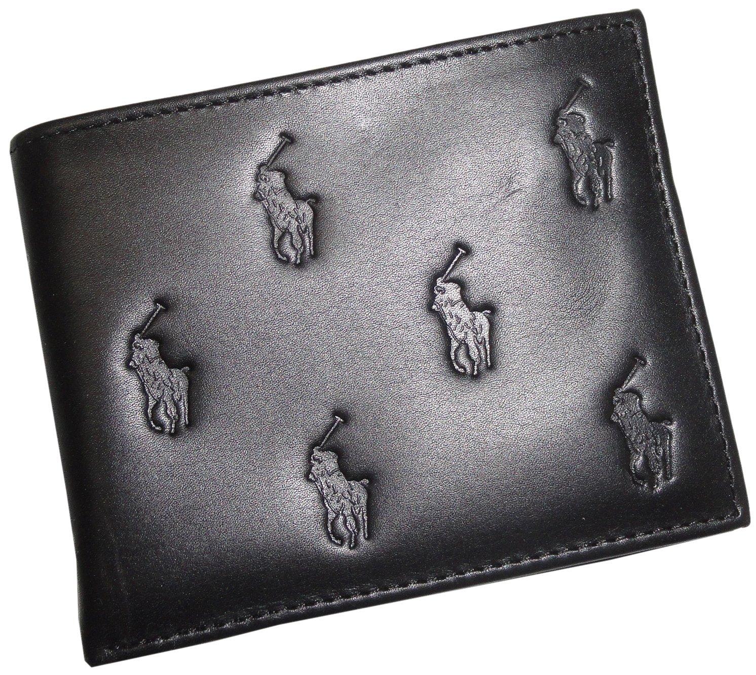 Galleon - Polo Ralph Lauren Men s PassCase Leather Black BiFold Pony All  Over Wallet 1134566762e
