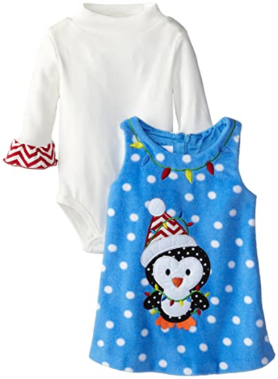 b9348e194 Amazon.com  Bonnie Baby Baby Girls  Penguin Fleece Jumpers  Clothing