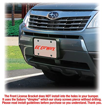 TrunkNets Inc Front Bumper License Plate Mounting Bracket for Subaru Forester 2008-2020