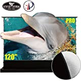VIVIDSTORM Stand Floor Motorized Electric Screen UHD Laser TV Home Theater Projector 120 inch Ambient Light Rejecting…