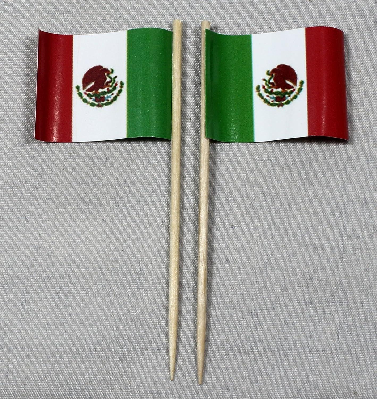 Bandera de M/éxico fiesta-Picker banderitas de papel profesional 50 pcs 8 cm impresi/ón offset gran selecci/ón de producci/ón propia