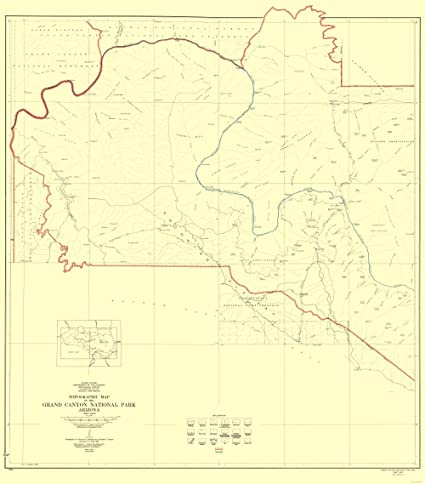 Amazon Com Topographical Map Grand Canyon West Half Arizona